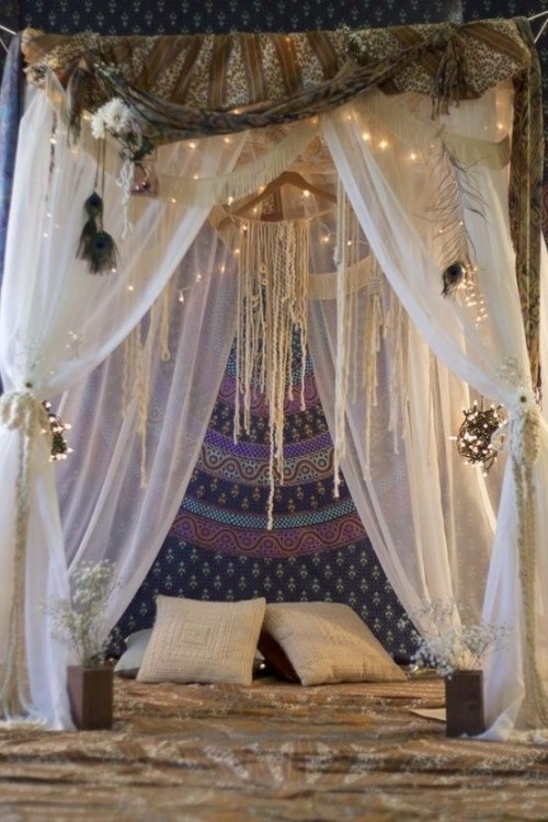 boho bohemian boho blog boho style vintage indie gypsy hippie hipster grunge purple comfy blue pretty beautiful bed home furniture pillow canopy