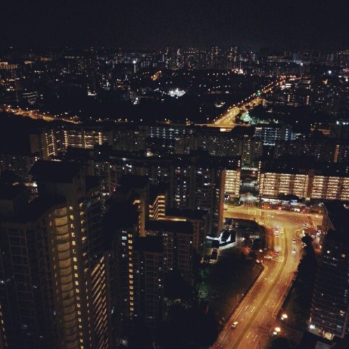 Night view of the neighborhood  #night #photography #galaxynote #cityscape #city #singapore #home