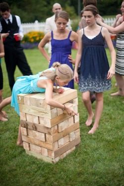 guest activity: giant jenga!