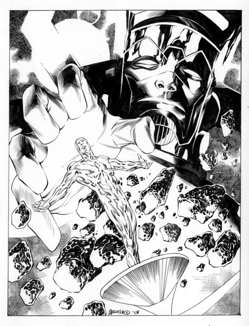 travisellisor:  The Silver Surfer & Galactus by Jesus Merino