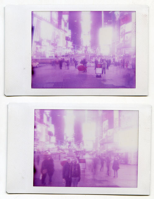 Times Square Instax diptych on Flickr.