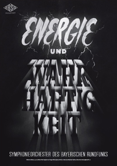 Typeverything.com Poster (11 of 13) from a campaign for the Bavarian Radio Symphony Orchestra by Mirko Borsche.