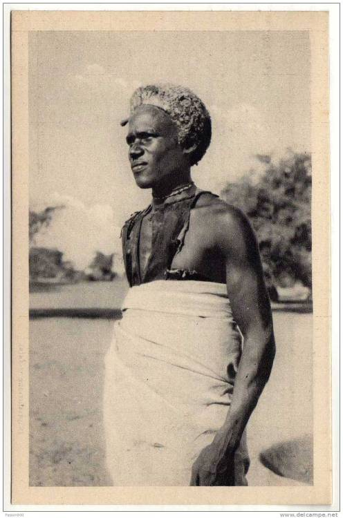Vintage postcard of a man from Eritrea.