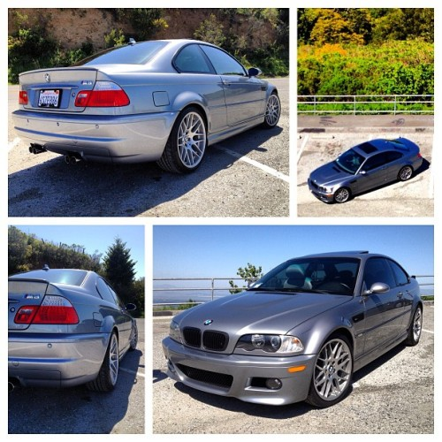My new toy !! #m3 #e46 #bmw #CSLrims #bimmer #newcar #mirroredtint #mpower #wetasfuck #inlove 😄😘⚡