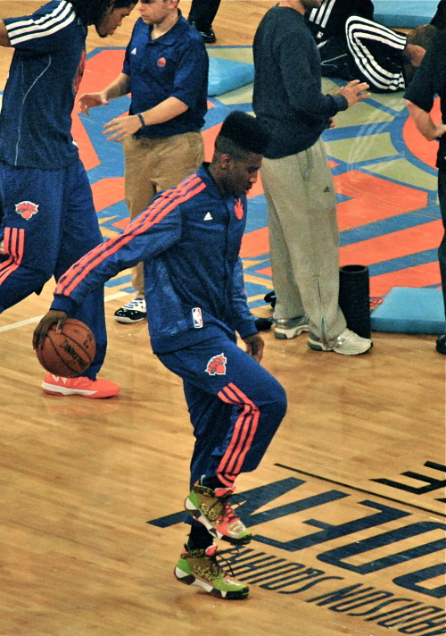 First game back at the Garden for Iman Shumpert, Knicks vs Brooklyn. Martin Luther King…MY PIC