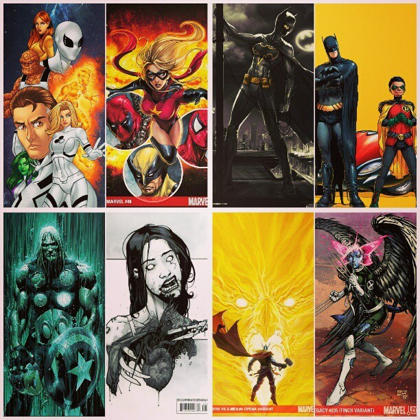 Comic book stuff I like #thor #avengers #batman #batmanandrobin #walkingdead #mrsmarvel #spiderman #deadpool #wolverine #avengersvsxmen #xmen #finch #fantasticfour #futurefoundation #batgirl #robin #zombies