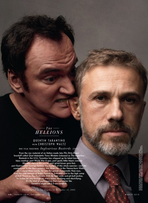 Christoph Waltz and Quentin Tarantino for Vanity Fair, March 2010