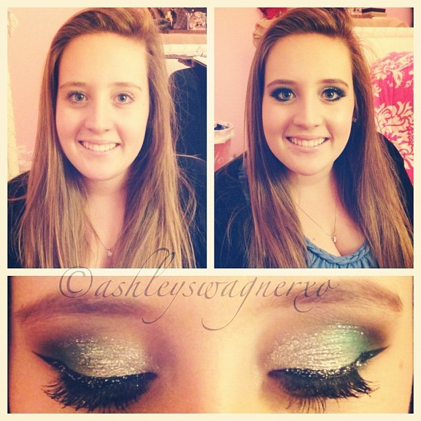 Did brookies makeup for New Years! #makeup #mua #makeupartist #newyears #glitter #eyeliner