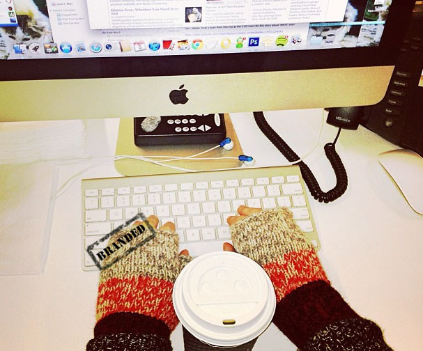 "Let's just call them ""office gloves."" buy."