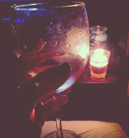 Wine by candlelight💜 Relaxing way to end the night