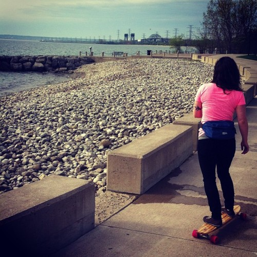 Out for a ride with @ladydamnyak along Burlington waterfront. #starttoagreatweekend