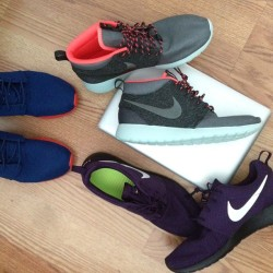My rotation for this weekend. #Reno #roshe #rosherun #nsw #nikesportswear
