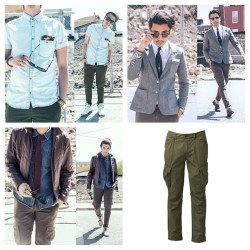 1 pair of slim cargo pants, 3 different styles. The Fashion Chameleon now on www.lookrichshopcheap.com @jcrew