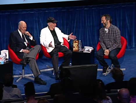 Mel Brooks, Carl Reiner and Judd Apatow are live now as part of #ComedyFest.