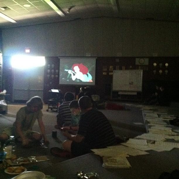 Watching the little mermaid in band:D