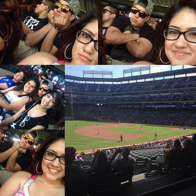 Had an awesome day at the game today with my sister and cousins and friend! Lol It was hot but we had some pretty good shade! So it wasn't all bad! Rangers won! Whoop whoop! 😋😅⚾️☀️#rangersnation #gotexasrangers #fambam #goodbuthotday