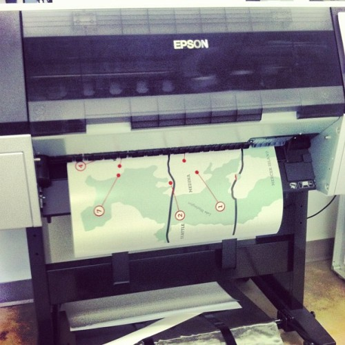 It's printing!!!!! #bfa  (at Cornish College of the Arts)