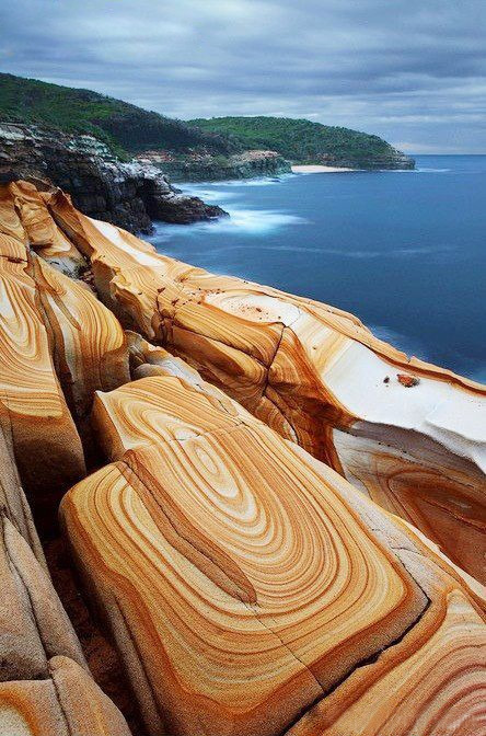 matsvri:  Liesegang Rings, Bouddi National Park ✕ by unknown