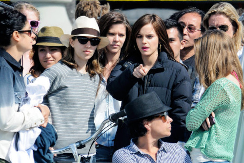 Sofia Coppola and Emma Watson on the set of The Bling Ring (2013)