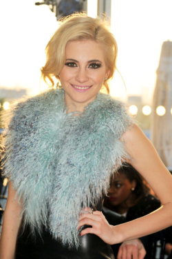 pixielbr:  Pixie Lott at Mark Fast Fashion Show today