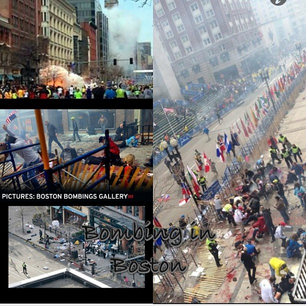 Boston was bombed during a Marathon and several people were hurt wear purple tomorrow to show u care😞