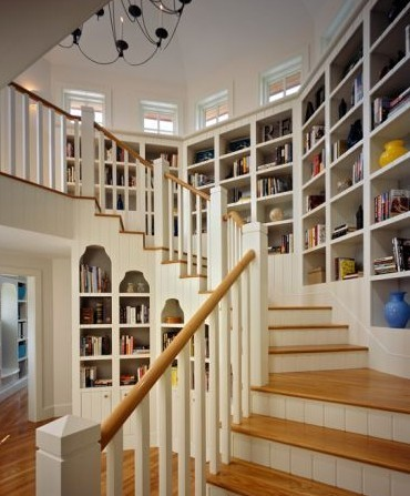 a life like this / bookcase stairs? love. on We Heart It. http://weheartit.com/entry/20434623/via/jdj0155