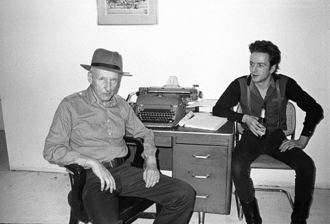 zoecodeine:  William S. Burroughs and Joe Strummer