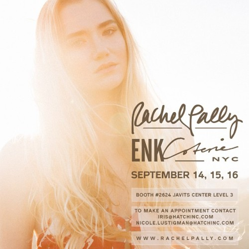 #NYC - who's coming out for @enkshows #Coterie?! Come visit us next week at Booth 2624, see you there! 👋 #rachelpally #spring2015 #ss15 #fashion #enkshows