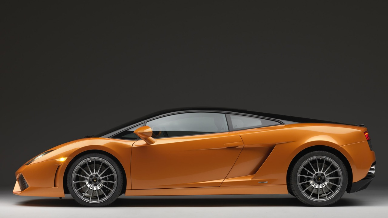 Lamborghini gallardo lp560 bicolores orange&black, hd wallpapers.