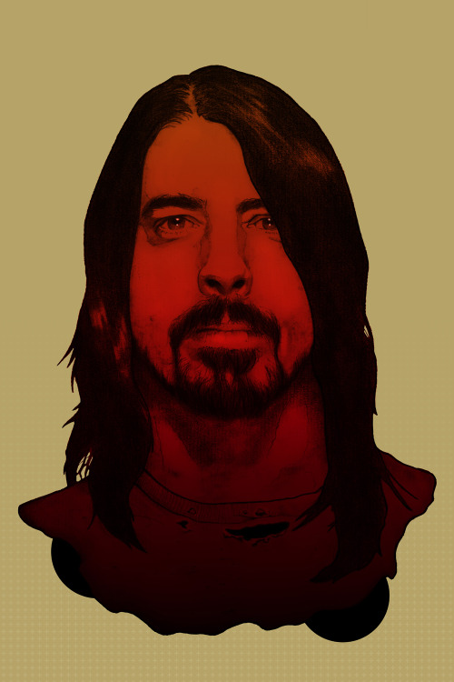 DAVE GROHL by Arnaud Gomet Mixed/Media - Pencil and Photoshop Artist: Tumblr / Behance
