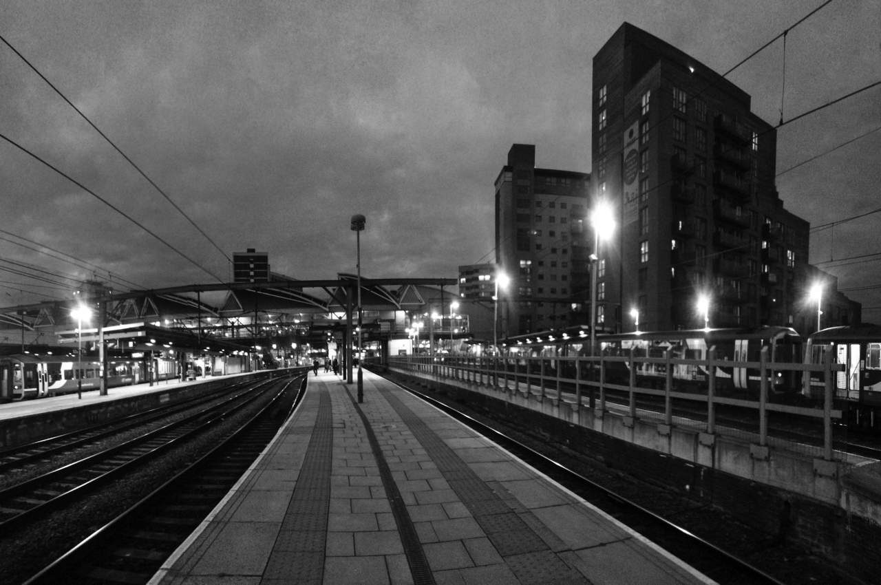 Leeds station last night…