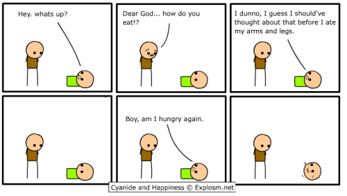 By Dave. Hungry for more comics? http://www.explosm.net/comics!: https://www.tumblr.com/tagged/the-cyanide-and-happiness-show