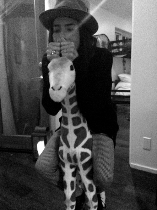 My other pet giraffe & I (photo by Shea Bowen Smith)