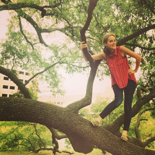 Climbing trees, just the usual.