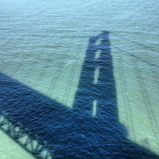 Shadows on the water.   #goldengate #bridge #sanfrancisco (at Golden Gate Bridge)