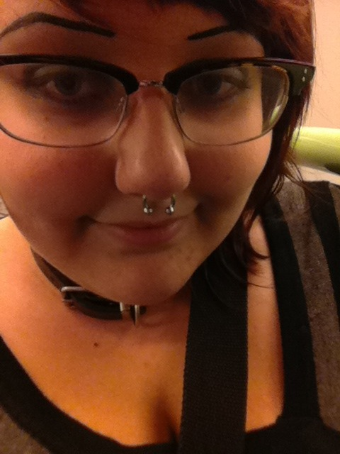 14 guage septum! Stretched by a really nice guy i'm not sure of the name of at the piercing urge in melbourne!!
