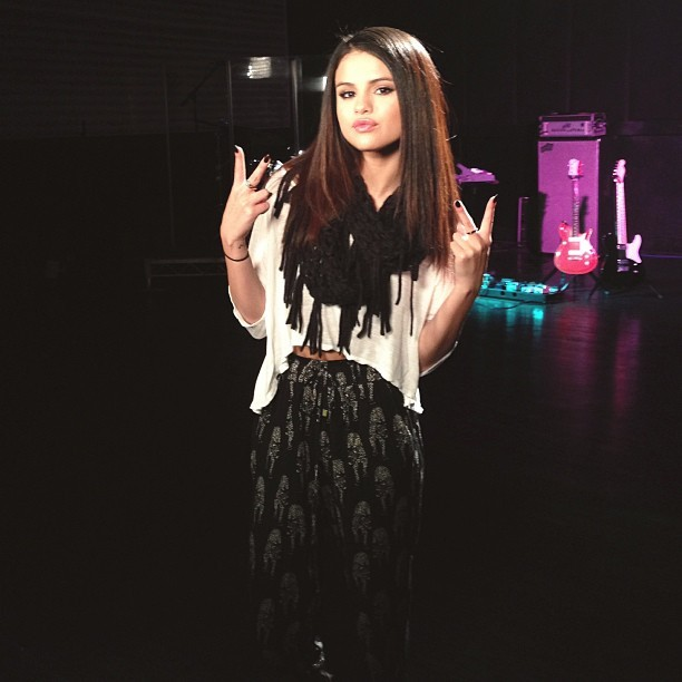 Selena Gomez - Check out @selenagomez getting ready to rehearse her performance for the #MovieAwards