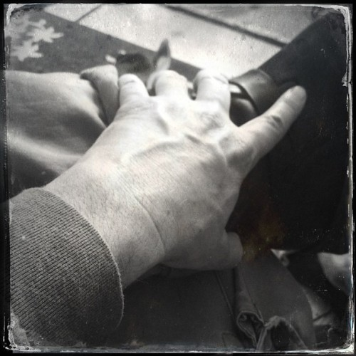 With my hand, I grasp. #hipstamatic  #hipstography #iphoneography #hand #wesco #boot #leather #stuartdmt