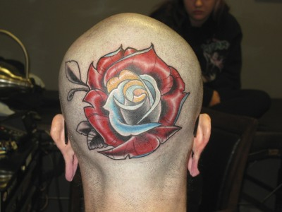 head tattoo! http://instagram.com/orphinofthought/ facebook.com/bensancheztattoo nobody's hero tattoo meridian idaho