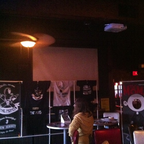 Moms merch up and ready in Columbus.  (at Victory's)