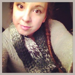 Cosy as hell #scarf #me #fishtail #girl #selfie #ineedsleep