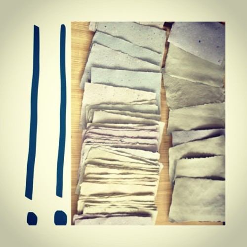 Stacks on stacks on stacks! Handmade paper soon to be handmade journals! #forestpeople #diy #craftcavecreations