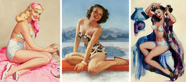 "Pin-Up Queens: Three Female Artists Who Shaped the American Dream Girl ""These were the girls that the boys who fought in World War II and the Korean War came back to marry,"" Meisel says. ""It was about getting a little house in Levittown and bringing up their two or three kids. Both male and female pinup artists painted for that."""