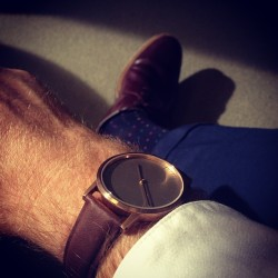 I'm having the time of my life. Beautiful new #uniformwares #watch from @cleoposa for my birthday.