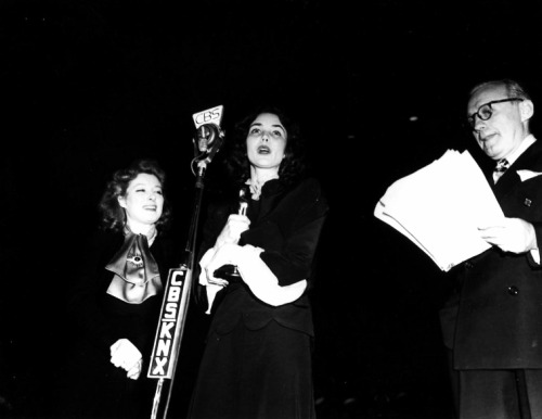 Greer Garson, Jennifer Jones and Jack Benny on CBS, 1940's