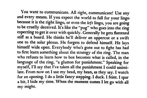 Boxing / Writing, Henry Miller