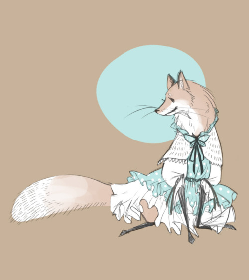 syberfag:  Fox in a cute dress