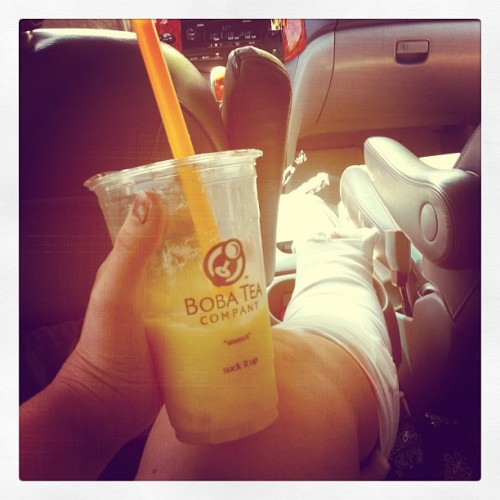 My sister got me some Boba Tea today. Made my day!!!!