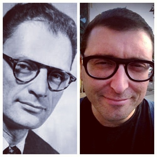 So Victoria thinks my new Anne Et Valentin glasses make me look like Arthur Miller. I don't see it, but our specs on the other hand? Very alike.