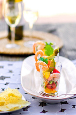 Grilled Red Fish and Shrimp Ceviche  by JoyliciousYahoo on Flickr.